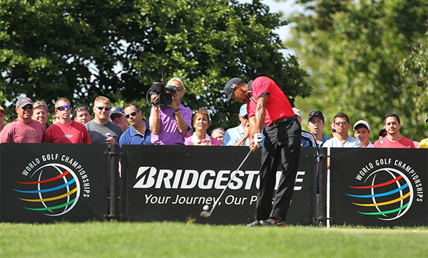Tiger Woods at the Bridgestone Invitational